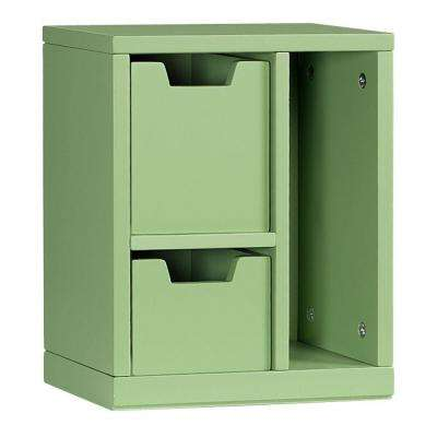 Craft Space 3-Cubby Right Cubby Organizer in Rhododendron Leaf