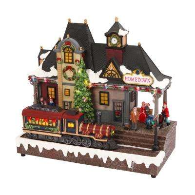 12.2 in. H Battery Operated Lighted Musical Train
