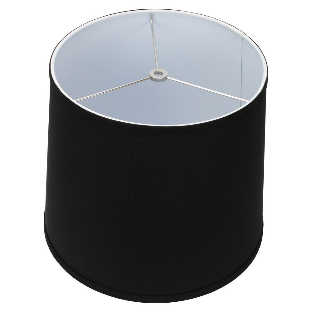 11 in. Top Diameter x 13 in. Bottom Diameter x 11 in. Slant, Linen Black Empire Lamp Shade