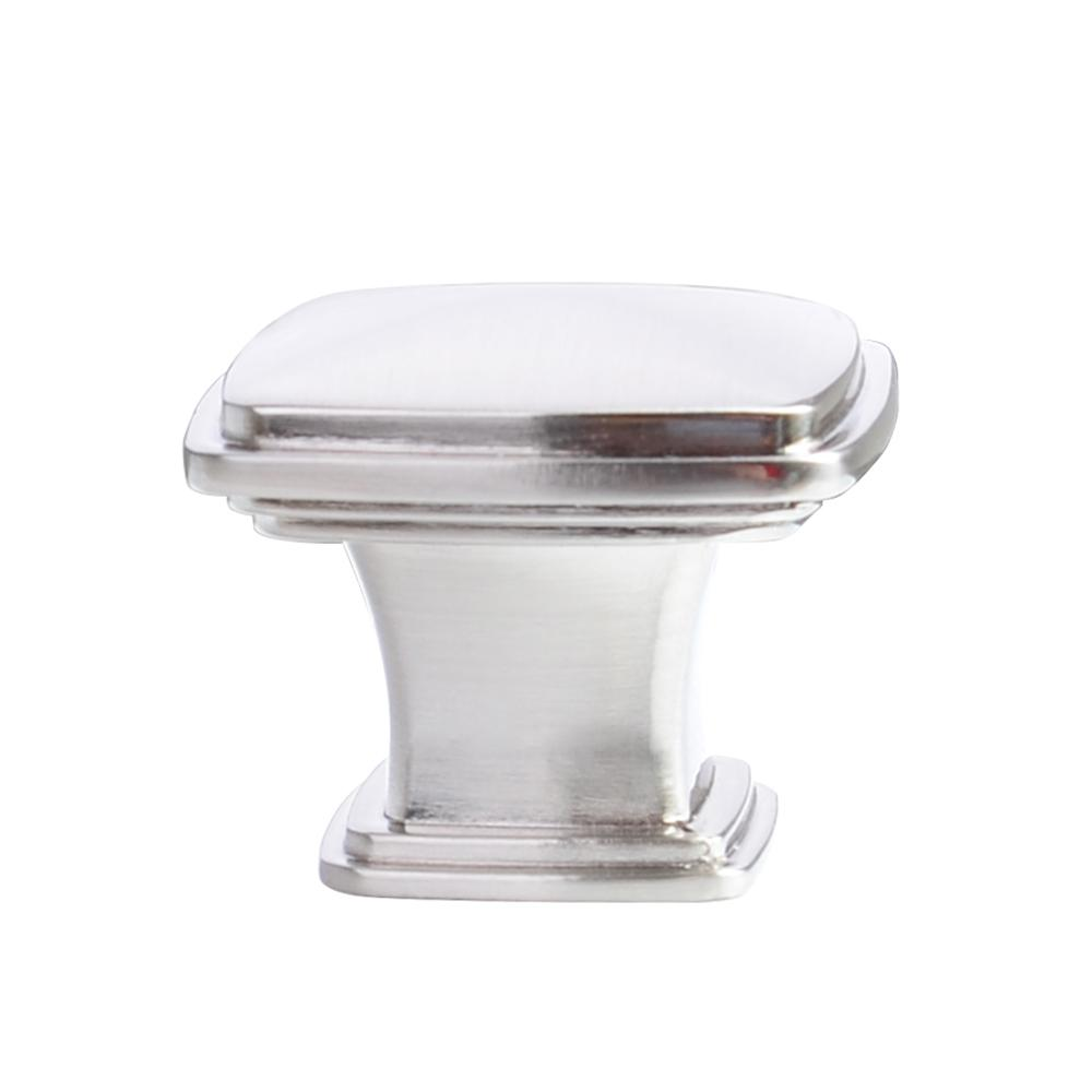 kitchen cabinets knobs south hardware 1 1 4 in satin nickel traditional 3056
