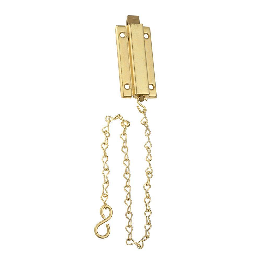 3 in. Brass Reversible Chain Bolt