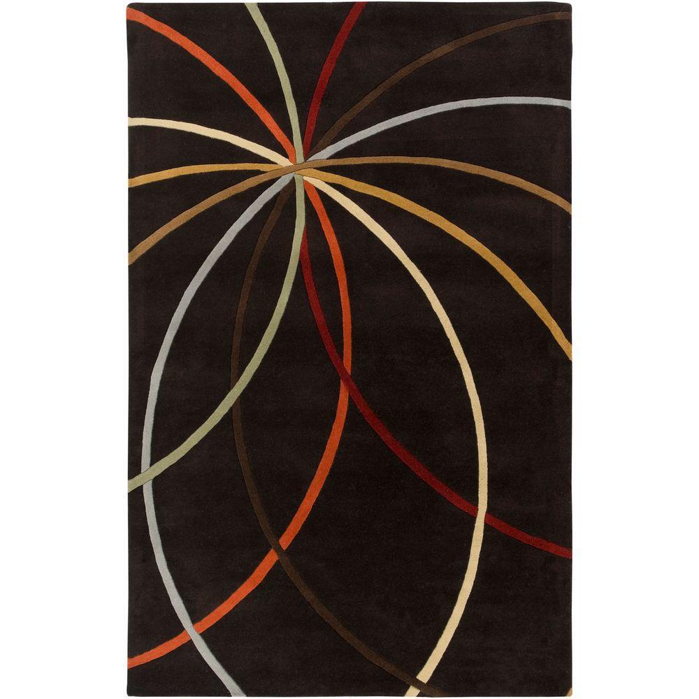 Artistic Weavers Hughson Chocolate 6 ft. x 9 ft. Area Rug