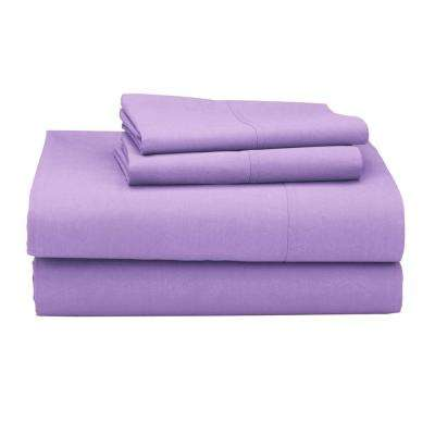 Classic 4-Piece 210 Thread Count Percale Sheet Set