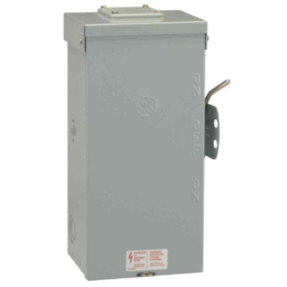 Brand new ge tc10324r 200 amp manual transfer switch outdoor rated.