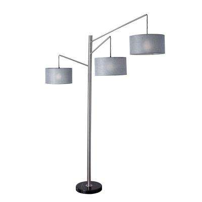 Wellington 91 in. Satin Steel Arc Lamp