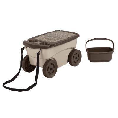 Portable 12.25 in. x 13 in. Resin Garden Scooter