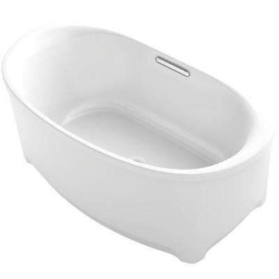 Underscore 5 ft. Acrylic Flat Bottom Non-Whirlpool Bathtub in White