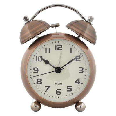 6 in. Bronze Metal Alarm Clock
