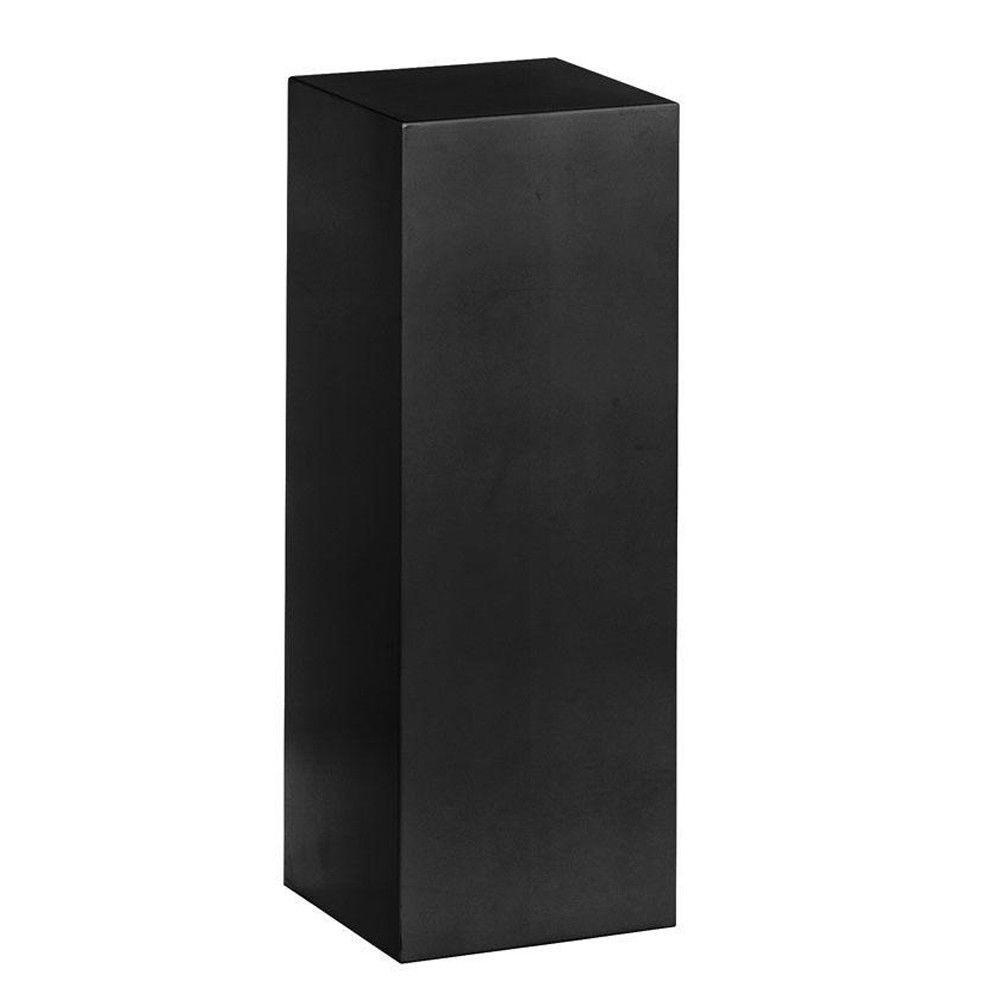 Home Decorators Collection 42 in. H Square Wood Black Pedestal