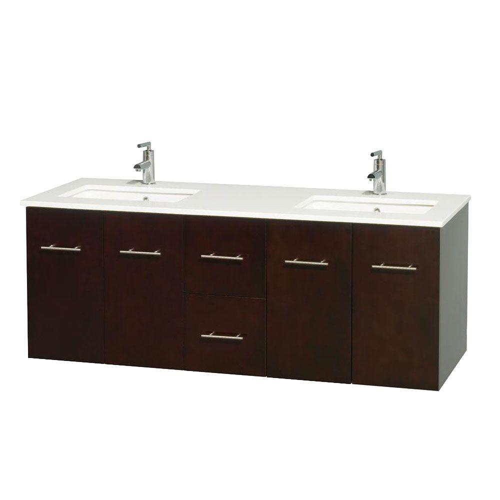 Vanity Tops Product : Wyndham collection centra in double vanity espresso