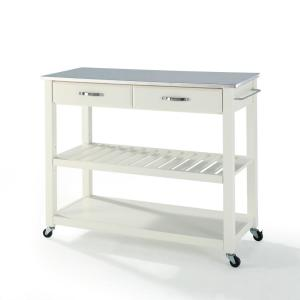 Good +2. Crosley White Kitchen Cart With Stainless ... Design