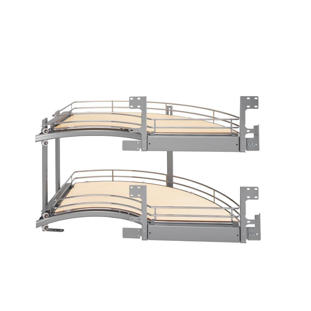 Rev A Shelf 18 In 2 Tier Curve Blind Corner Org Right