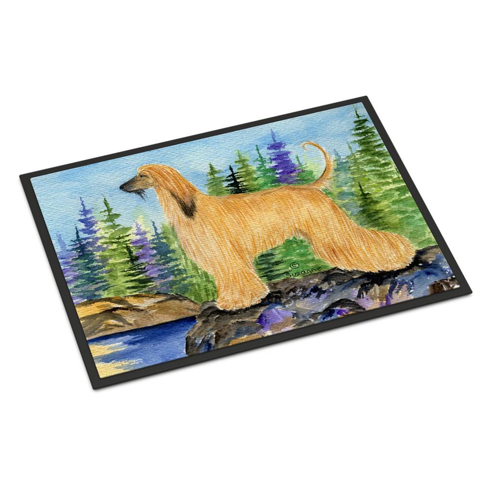 Multicolor Carolines Treasures SS8630MAT Fox Terrier Indoor Outdoor Doormat 18 x 27