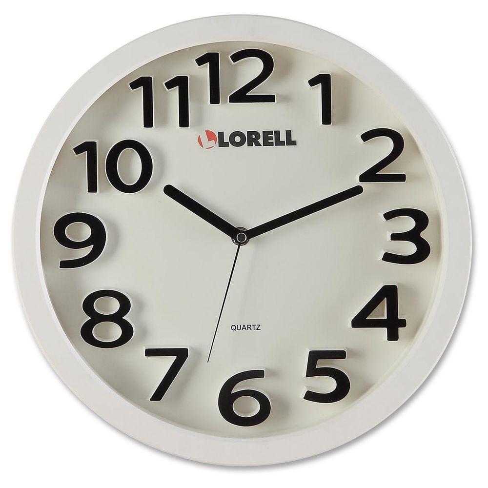 13 in. Round Quartz Wall Clock Analog