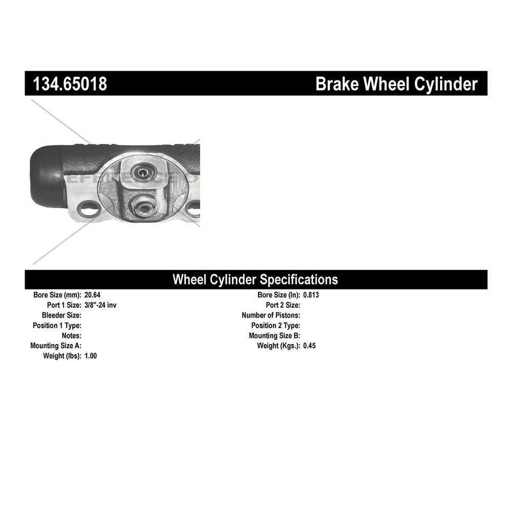 Centric Parts 134.65018 Drum Brake Wheel Cylinder