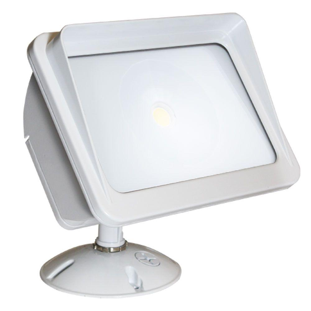 Home Depot Exterior Lighting: Irradiant White LED Outdoor Wall-Mount Flood Light-ALV2