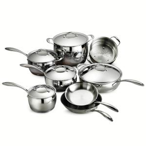 Tramontina Gourmet Domus Tri-Ply Base 13-Piece Cookware Set by Tramontina
