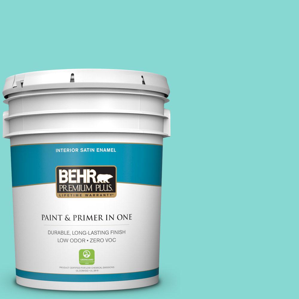 5-gal. #P450-3 Rainwater Satin Enamel Interior Paint