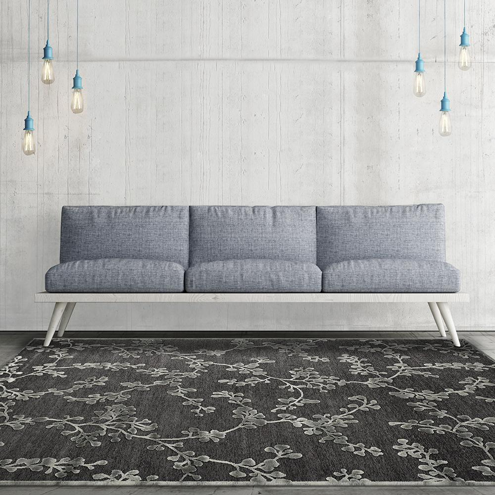 Lanart Grace Stone (Grey) 5 ft. x 8 ft. Area Rug