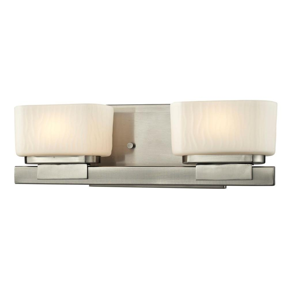 Terra 2-Light Brushed Nickel Bath Vanity Light