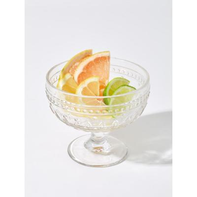 Fez 4-Piece 13oz. Clear Footed Compote Glass Set