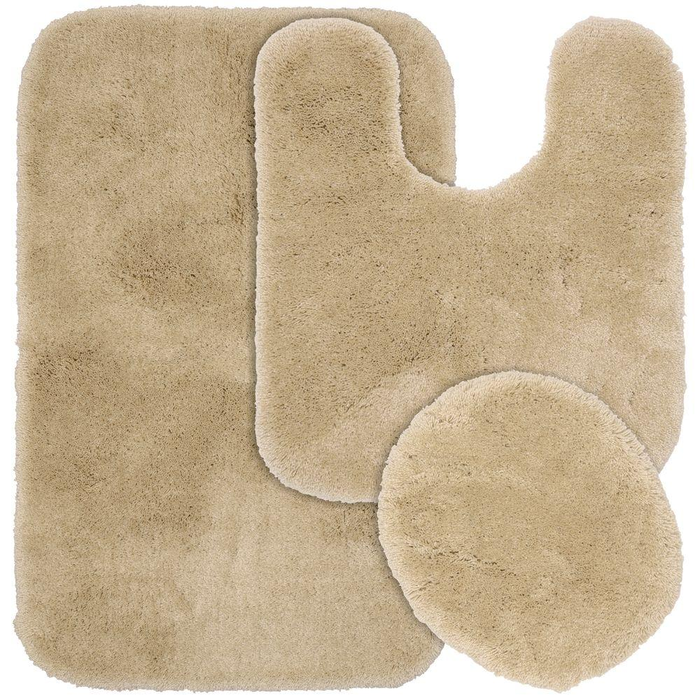Free 2 Day Shipping Bathroom Rugs Sets 3 Mats Set Extra Soft Shower Bath Mat 31 X19 Contour 19 X15 Toilet Lid Cover