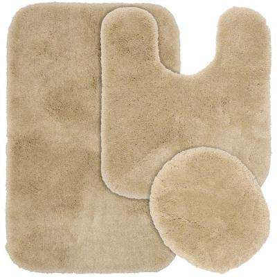 Finest Luxury Linen 21 in. x 34 in. Washable Bathroom 3-Piece Rug Set