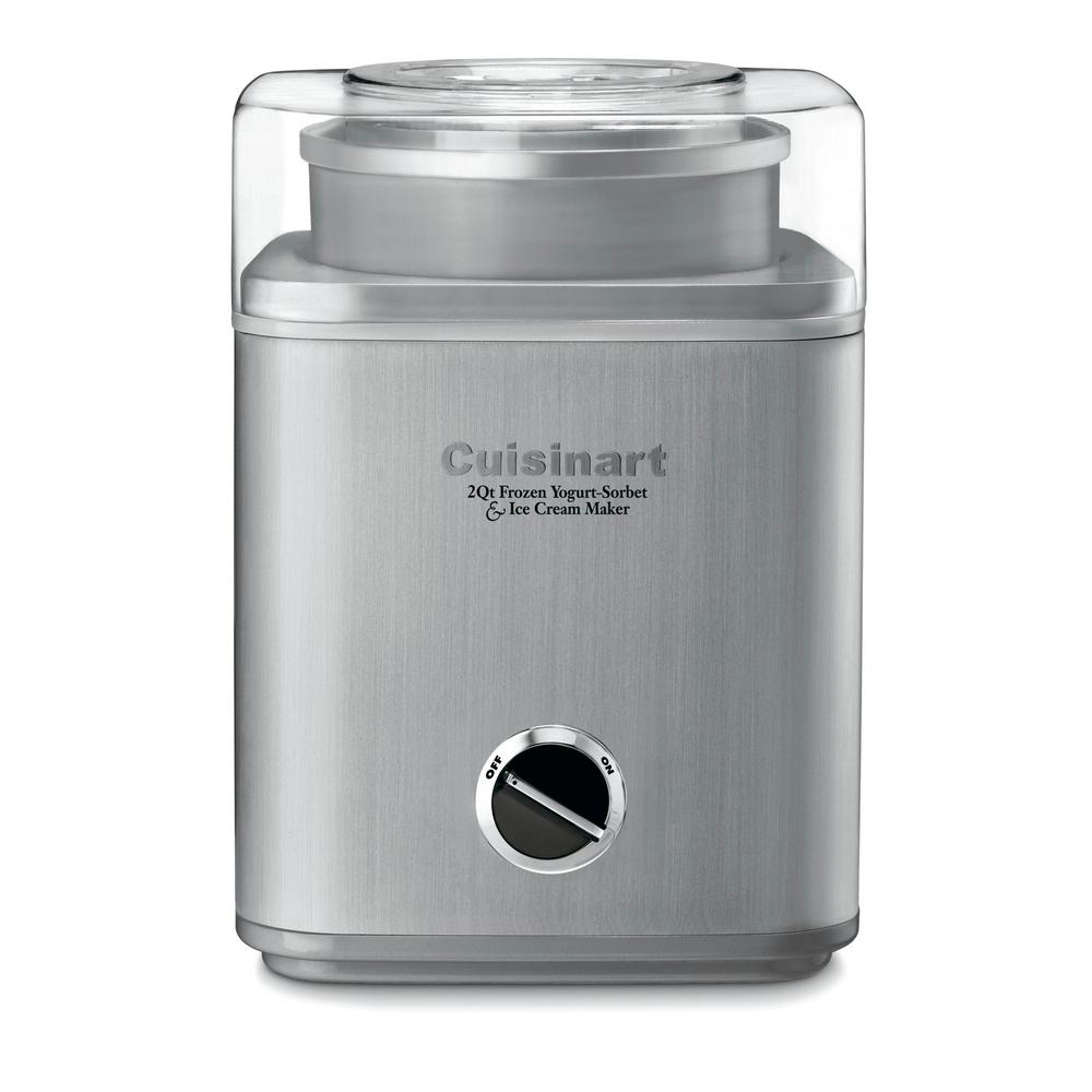 2 Qt. Stainless Steel Ice Cream Maker with Motor