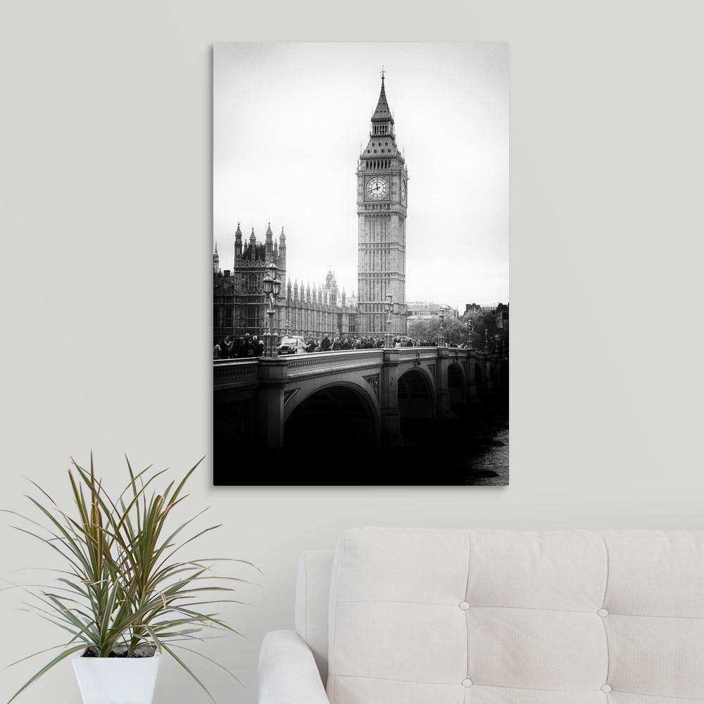 Greatbigcanvas View Of Big Ben From Across The Westminster Bridge