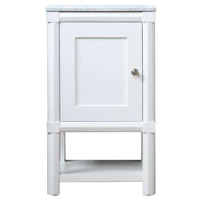 Sutton 15 in. W x 20 in. D x 34.5 in. H One Door Small Side Unit in Bright White
