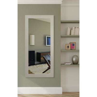 65.5 in. x 30.5 in. Arctic Ivory Vanity Wall Mirror