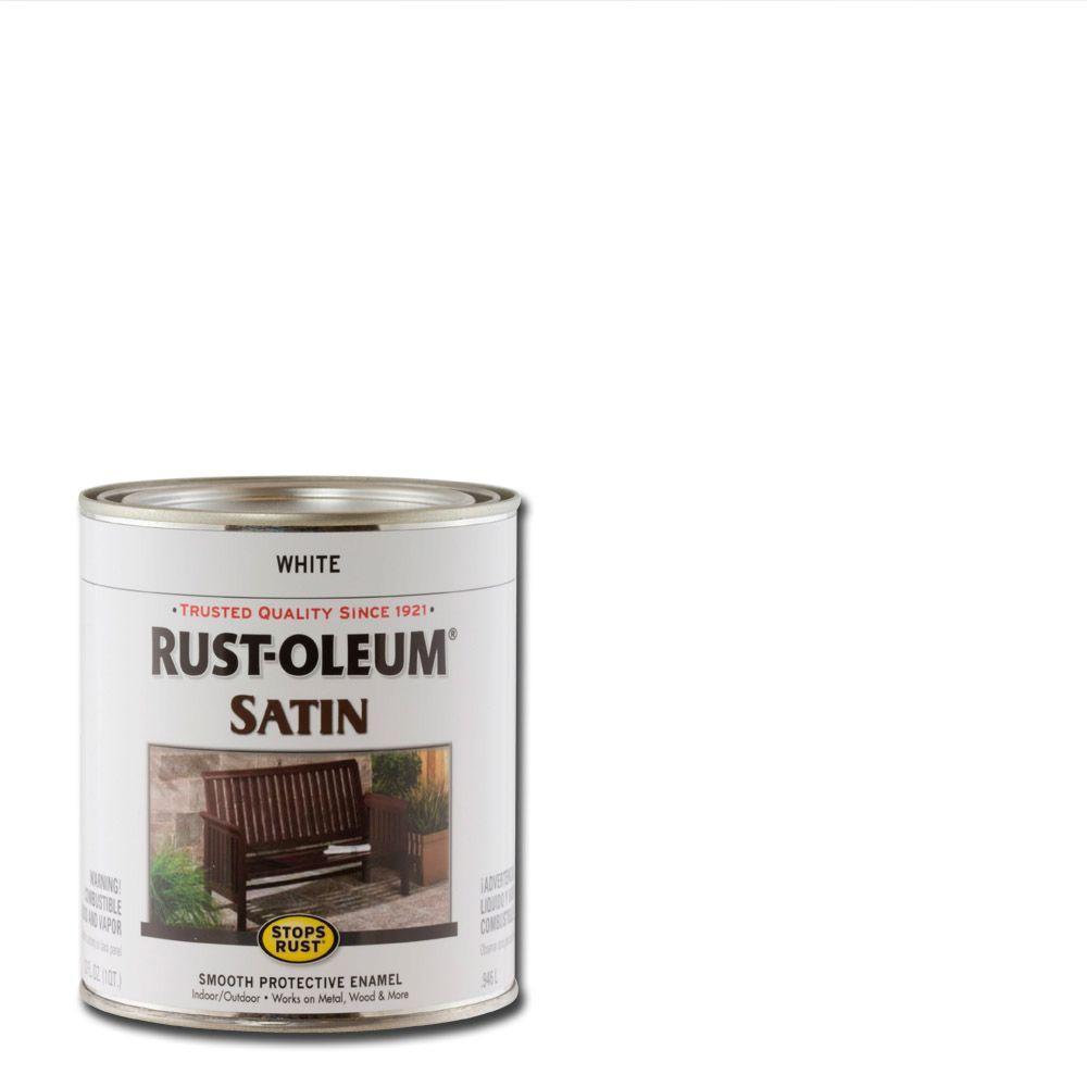 1 qt. Protective Enamel Satin White Interior/Exterior Paint