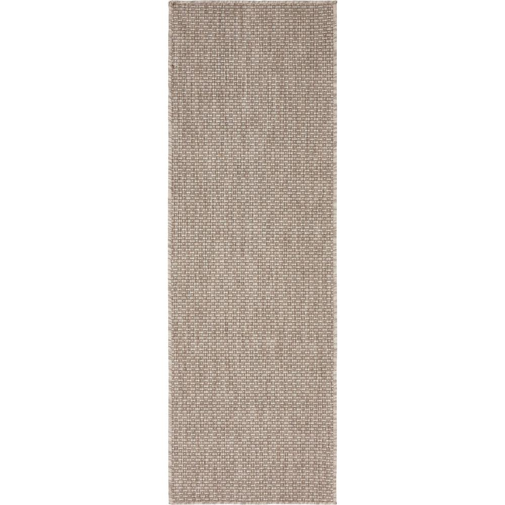 Outdoor Beige 2' x 6' Runner Indoor/Outdoor Rug