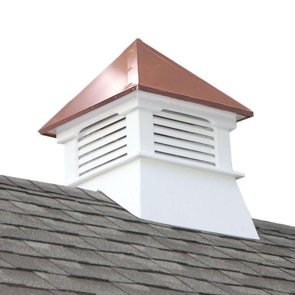 Teton 20 in. x 20 in. x 26 in. Composite Vinyl Cupola with Copper Roof