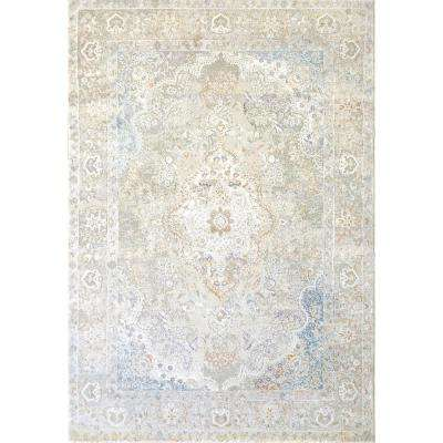 VALLEY GREY/BLUE 3FT 11IN X 5FT 7IN TRADITIONAL VISCOSE AREA RUG