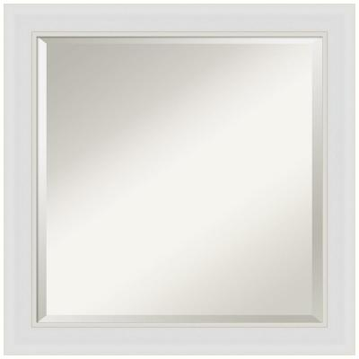 Medium Square Flair Soft White Beveled Glass Casual Mirror (24 in. H x 24 in. W)