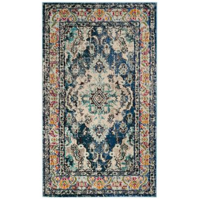 Monaco Navy/Light Blue 3 ft. x 5 ft. Area Rug
