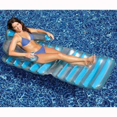 74 in. Assorted Colors Folding Pool Lounger