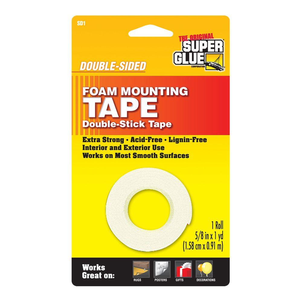 Super Glue 58 In X 36 In Double Sided Foam Mounting Tape 12 Pack