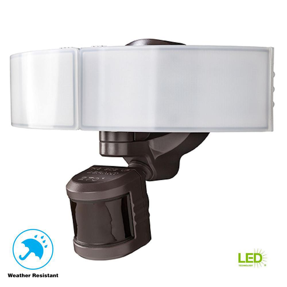 Defiant 270 Degree Bronze Led Bluetooth Motion Outdoor