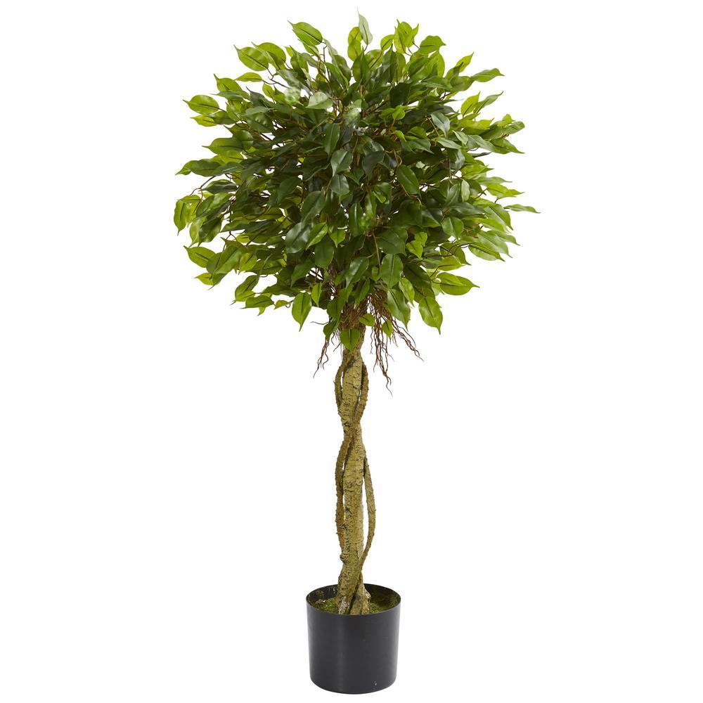 4 ft. UV Resistant Indoor/Outdoor Ficus Artificial Topiary Tree