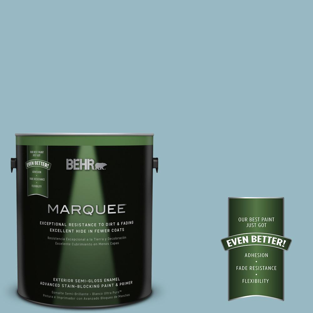 BEHR MARQUEE 1-gal. #PPU13-9 Tahoe Blue Semi-Gloss Enamel Exterior Paint