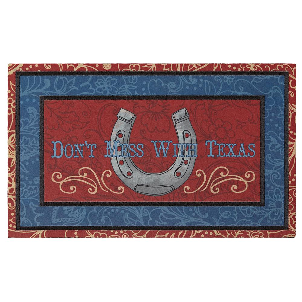 Mohawk Home Border Frame Don\'t Mess with Texas 18 in. x 30 in ...