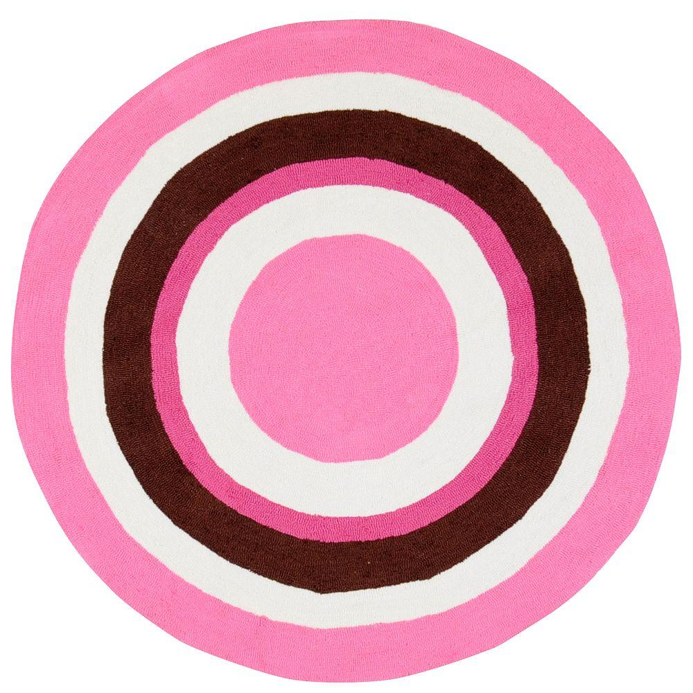 Artistic Weavers Madison Pink 8 ft. Round Area Rug-DISCONTINUED