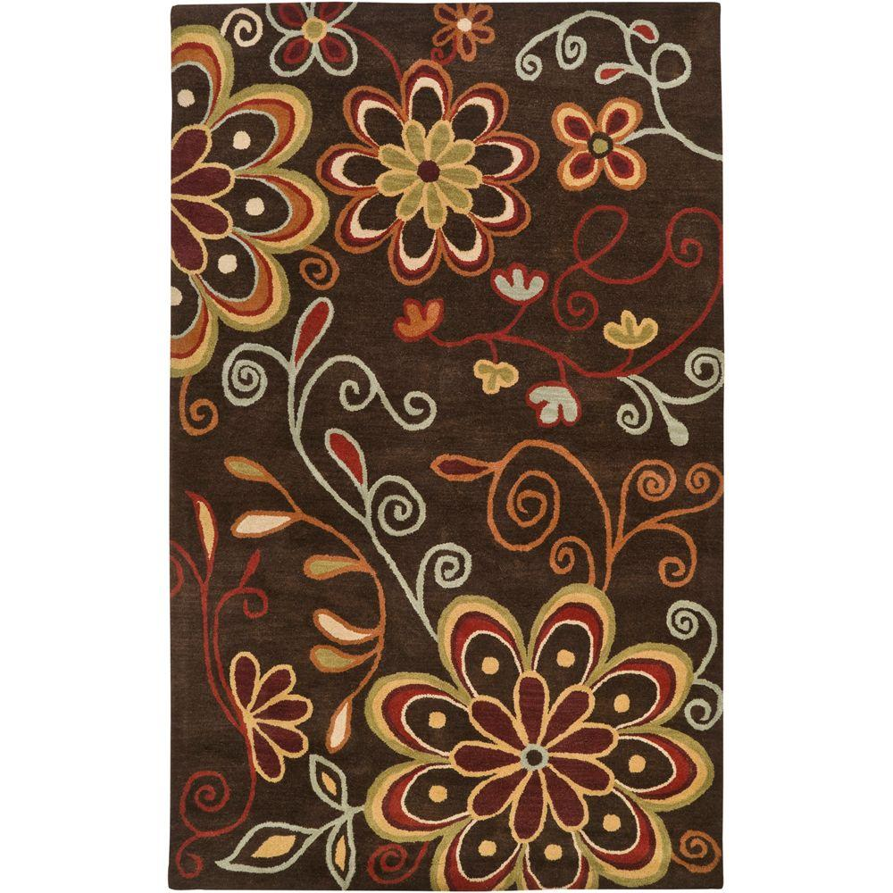 Sarah Brown 9 ft. x 12 ft. Area Rug