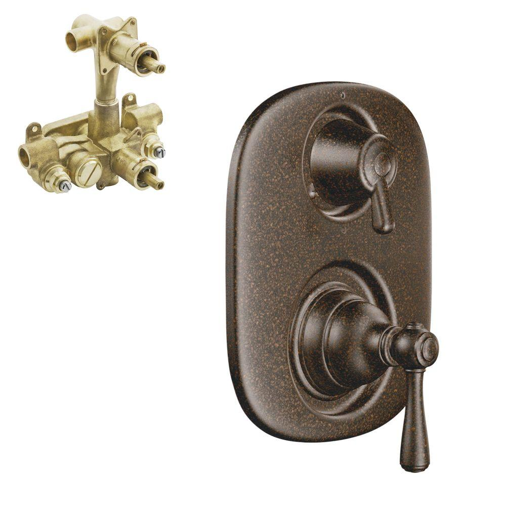 Kingsley 2-Handle Moentrol Valve Trim Kit with Valve in Oil Rubbed Bronze