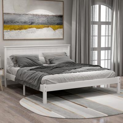 White Queen Seeley Platform Bed with Headboard