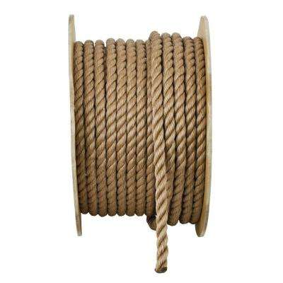 5/8 in. x 200 ft. Brown Twisted Polypropylene Rope
