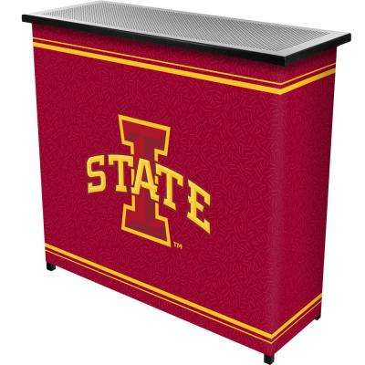 Iowa State University 2-Shelf Black Bar with Case