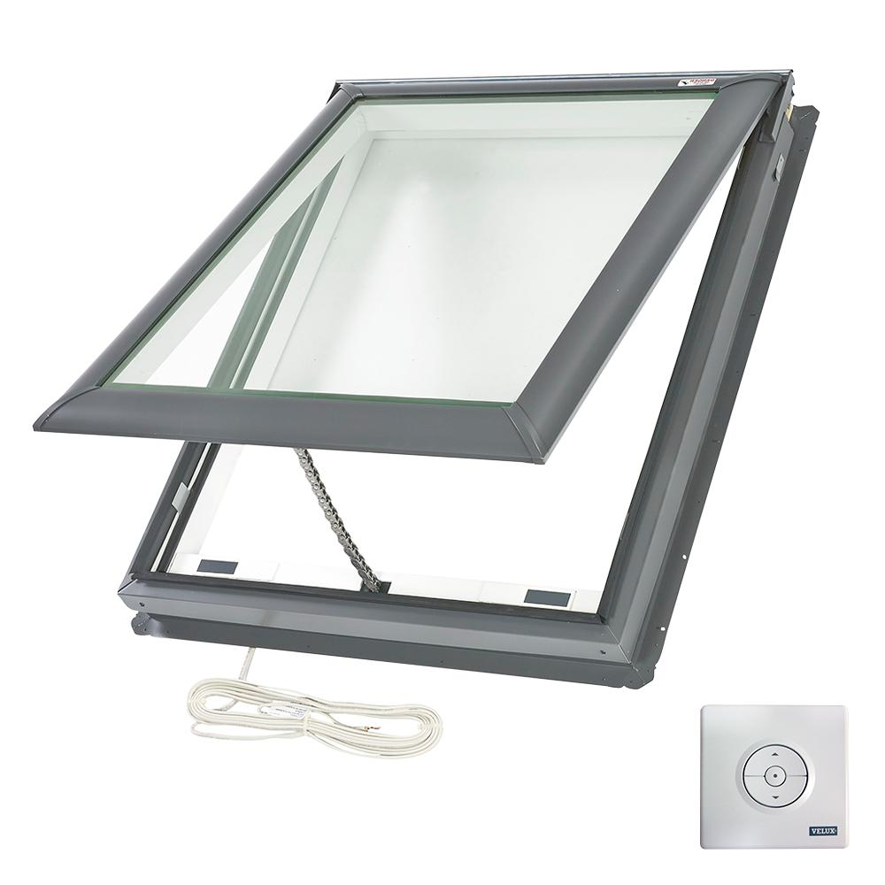 VELUX 30-1/16 in. x 37-7/8 in. Fresh Air Electric Venting Deck-Mount Skylight with Laminated Low-E3 Glass